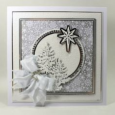 Happy Thursday, A white on white card today using the gold lustre card along with white to make a different tonal look. I stared by. Christmas Cards 2017, Create Christmas Cards, Homemade Christmas Cards, Christmas Star, Xmas Cards, Handmade Christmas, Christmas Crafts, Christmas Printables, Old Picture Frames
