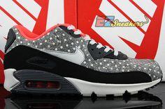 NIKE AIR MAX 90 LTR PREMIUM POLKA DOT CRIMSON 666578-006 NEW SIZE 9.5 #Nike #AthleticSneakers