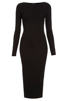 TopShop: Plain Midi Bodycon Dress- classic LBD for fall/winter 2013 Modest Fashion, Love Fashion, Womens Fashion, Dress Skirt, Dress Up, Bodycon Dress, Below The Knee Dresses, Mode Simple, Costume