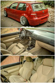 Volkswagen Golf Mk4 with cream interior