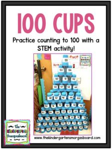 Cups: A STEM Challenge Counting to 100 stem challenge! Counting to 100 while building and stacking!Counting to 100 stem challenge! Counting to 100 while building and stacking! Kindergarten Classroom Games, Kindergarten Smorgasboard, Numbers Kindergarten, Classroom Ideas, 100th Day Of School Crafts, 100 Days Of School, Number Recognition Activities, Counting To 100, 100 Day Celebration