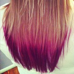 Pink/Purple Dip Dye Hair! #hair #beauty #hairporn #dipdye