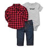 Carter's Baby Set, Baby Boys 3-Piece Bodysuit, Shirt and Pants