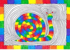 Šnek – barevný kruh Art For Kids, Crafts For Kids, Arts And Crafts, Bird Coloring Pages, Cool Art Projects, Spring Art, Art Lessons Elementary, Autumn Art, Environmental Art