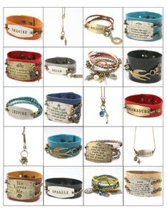 Lenny and Eva bracelets - luv em!  Lady at the library had one of these today, now I know what they are!
