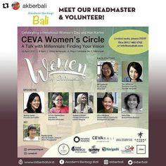 #Repost @akberbali with @repostapp  Sabtu besok yuk berbincang bersama CEVA Women's Circle. Ada @candramertha relawan sekaligus Kepala Sekolah Akber Bali bersama speakers perempuan lain yang kece-kece dan difasilitator oleh Ibu Tya Adhitama.  Acara ini masih serangkaian memperingati Hari Perempuan Internasional bulan lalu dan Hari Kartini diakhir acara juga akan ada pengumuman kompetisi foto yang masih berlangsung. Untuk info kompetisi selengkapnya bisa Akberians cek di @cevabali dan…