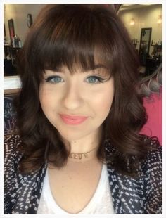 Adorable new bangs for this client! www.averybellahairstudio.com