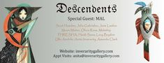 """https://www.inveraritygallery.com   Inverarity Gallery  Our beautiful """"Descendents"""" exhibition features this awesome talented line up and can be viewed online now- or please drop me a email to arrange a visit   Cover Stars- Amazing pieces by OliviaRose and Ulla Anobile Art"""
