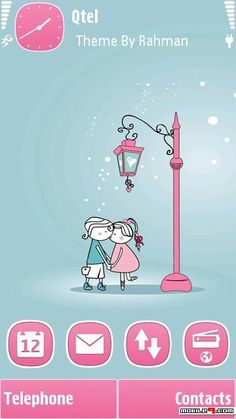 Mobiletoones offers free nokia themes downloads so you can change cute love couples theme for nokia series60 phones love the pink free urtaz Image collections