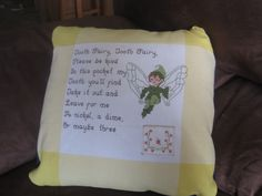 tooth fairy pillow cross stitch pattern - Google Search