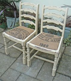 Shabby Chic Chairs - Variety Of Colours And Styles - Annie Sloan - Vintage Sack