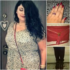black white and red outfit #curvy #curvyoutfit #curvyblog #moda #abbigliamento #fashion #fashionblog #outfit #bianconerorosso #blackwhitered #red #rosso #weekend #plussize
