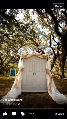 Country wedding doors Ruby Wedding, Dream Wedding, Wedding Day, Wedding Stuff, When I Get Married, I Got Married, Wedding Themes, Wedding Decorations, Wedding Dresses
