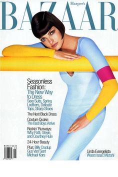 In honor of Linda Evangelista's birthday, we look back at her best BAZAAR covers.