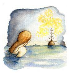 The Little Mermaid spot illustration.