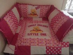 Custol design Hand made applique Alot of time and love. Fays baby bundles nursery sets.  Past custom design.