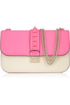 On the wish list - Valentino Glam Lock studded leather shoulder bag | NET-A-PORTER