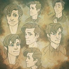 Instagram media by evanakisa - Haha these are terrible,quickly blocked out doodles x) but well it was suggested i should try to cartoon the 11th doctor, matt smith, those are my first tries, he looks like an old fart when i tried drawing him x.x The closed heavy lids and the absence of eyebrows was a challange to try out, trying to get his eyes right was not happening at first go as ya can see haha. Not everything is perfect when you first try something so im posting this anyway! Ill have…