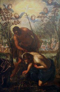 Domenico Tintoretto, Il Battesimo di Cristo, fine del 16 ° o all'inizio del 17 ° secolo