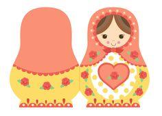 Babushka Doll Card Design