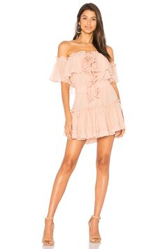 MISA Los Angeles Melis Dress in Dusty Rose Chiffon | REVOLVE