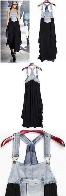 Boho: Denim and fabric combination... ♥ Deniz ♥
