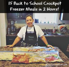 Here is a step by step instructions on how to make 15 Back to School Crockpot Freezer Meals in 2 Hours!