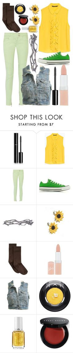"""Flowey (Undertale)"" by thefnaftheorists ❤ liked on Polyvore featuring Chanel, Zara, Balmain, Converse, Pearls Before Swine, Hannah Makes Things, Hue, Rimmel, Wet Seal and Lancôme"