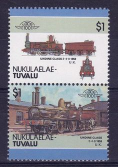 TUVALU NUKULAELAE LOCO 100 UNDINE CLASS LOCOMOTIVE UNITED KINGDOM STAMPS MNH http://spain-travel-now.info/sn/re/?query=141812028760…