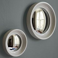 convex mirrors...cool for pirate/beach room