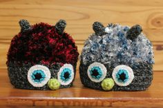 Monster Hat Twins: LARS & THOR! | Available exclusively on Monster Hat Island! Check out all the one-of-a-kind crochet monster hats at monsterhatisland.com.