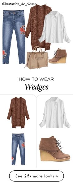 """""""Comfy outfit for cold"""" by pao-historias-de-closet on Polyvore featuring Own It, Castañer, Balenciaga, jeans, cardigan, blouse and women"""