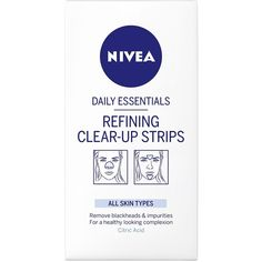 Nivea Refining Clear Up Strips ($8.95) ❤ liked on Polyvore featuring beauty products, skincare, face care, face cleansers, beauty, facial care, transparent, womens-fashion, clear face wash and nivea face cleanser