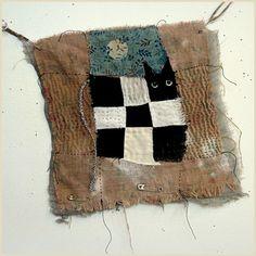 Cat in patchwork