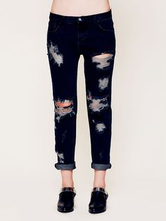 One Teaspoon Awesome Destroyed Baggies at Free People Clothing Boutique
