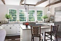 cocina vigas techo madera