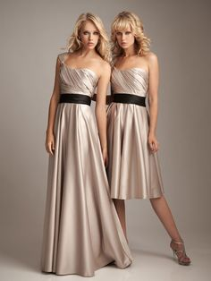 One shoulder A-line with ruffle embellishment satin bridesmaid dress $131.60