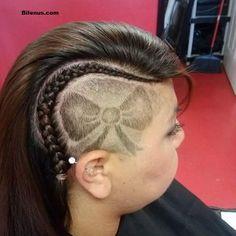 Yandan Ögülü Kurdele Saç dövme Modelli