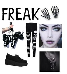 """This is one of my fav collages I made so far it's a creepy grunge style "" by amandabrooke123 ❤ liked on Polyvore"