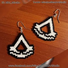Assassin's Creed earrings perler beads by mini_minako