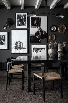 killer color combo: black. grey. white. wood. — The Decorista