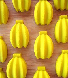 Banana Crayons- Set of  12 - Cute Monkey Party Favors. $10.80, via Etsy.