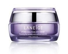 Laneige Hydra Solution Eye Cream - 25ml/0.8oz by Laneige. $44.99. Laneige products are based on the long time study and research of water, the source of life and the most important element of healthy skin.. Laneige products pursue the artistic sense of snow crystals and complete the beauty of women in their 20s and 30s through the hydrating science of water, the final destination of snow.. An anti-wrinkle eye cream for dry skin With a supple texture that dissolves quickly into sk...