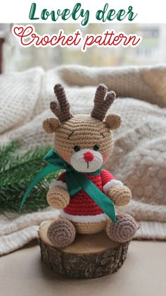 Easy crochet patterns amigurumi animals and more by ToysByKnitFriends Crochet Christmas Decorations, Christmas Crochet Patterns, Holiday Crochet, Christmas Knitting, Crochet Patterns Amigurumi, Crochet Dolls, Crochet Bear, Crochet Animals, Diy Crochet
