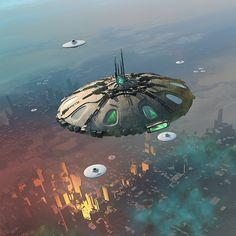 New unos anda New races Arte Sci Fi, Sci Fi Art, Aliens And Ufos, Ancient Aliens, Fantasy World, Fantasy Art, Space Fantasy, Old Sci Fi Movies, Starship Concept