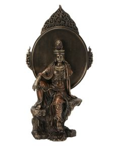 In Chinese Buddhism, Guan Yin (Kuan-Yin or Quan Yin) is usually depicted in flowing robe and usually wears royal necklaces.