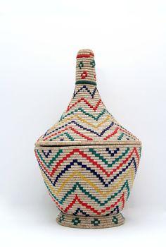 Vintage Moroccan Tribal Basket No.4. $128.00, via Etsy.