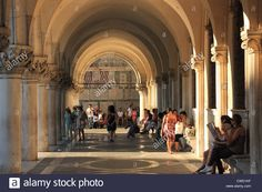 Colonnaded Arcade Of Palazzo Ducale (doge's Palace), San Marco Stock Photo, Royalty Free Image: 50073843 - Alamy