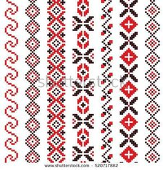 #traditional #embroidery #romanian #knitted #pattern #folk #artTraditional Romanian folk art knitted embroidery pattern
