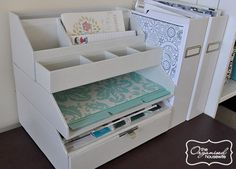 {The Organised Housewife} 20 Days to Organise and Clean your Home - Office 3